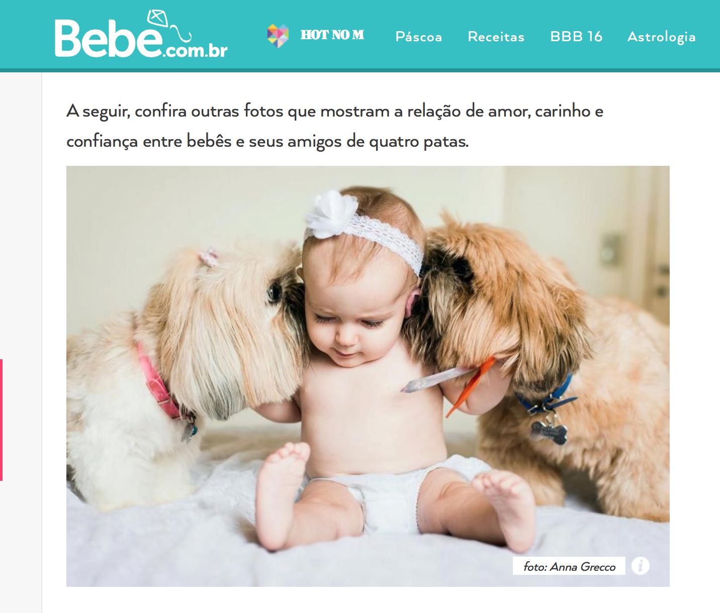 bebe.com.br abril annagrecco Anna Grecco bebes cachorros pets fofura fotos de bebe baby dog sao paulo campinas valinhos vinhedo jundiai indaiatuba jaguariuna